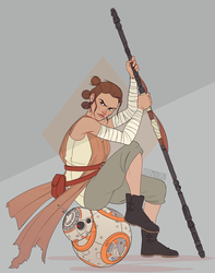Rey + BB-8 by felitomkinson