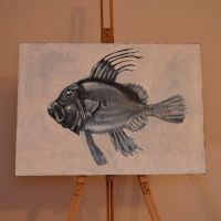 John Dory Fish Oil Painting by megapowerskills