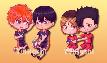 Kagehina and Kuroken by YuiHoshi