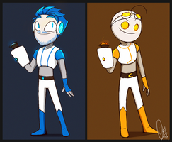 Portal2 /w Pewds and Cry (ReDesign) by ScribbleNetty