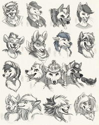 Headshot Sketch Commission: Batch 2 by Synthucard