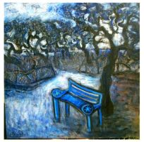 the blue bench by glenox66