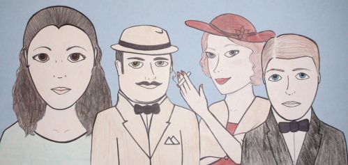 Death on the Nile Characters by Rainbow-Reverie