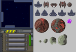 Electro Space (couple of sprites) by Gridysgood
