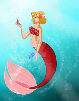 [ Totally Spies ] Clover Mermaid Version by Laefey
