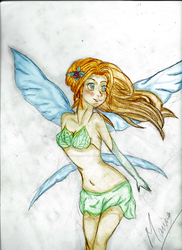 Draw of A fairy. by Himori-Ayumi