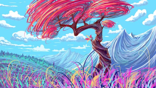 [+video] - Colorful tree - by Hibelton