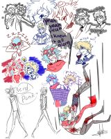 Punk and Nerd sketches by DrawerMich