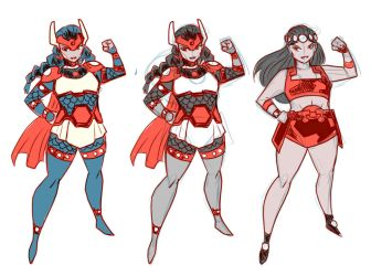 Young Big Barda by LucianoVecchio
