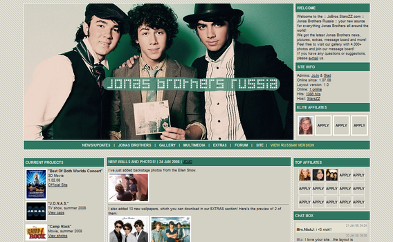 Jonas Brothers Layout 1 by ooliyah