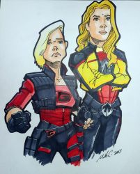 Electra Woman and Dyna Girl by artildawn