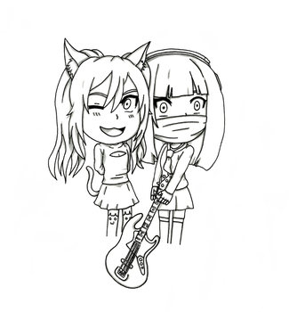 Chibi Nyanners and Haruchin Bass by sonic171000