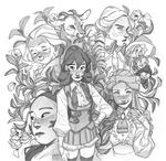 Females and a goat by Inimeitiel-chan