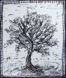Small tree on small sheet by eulenfeder