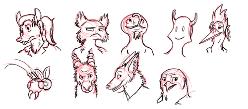 Reset - Floating Head Scribbles by Evelyn-Cross