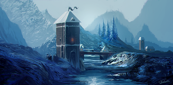 Frozen River by Frostwindz