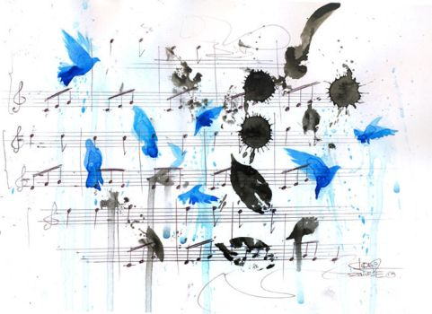 blue bird song by lora-zombie