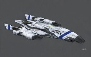 OAV26 Peregrine Attack Ship VALKYRIE by RobtheDoodler