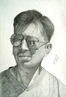self portrait pencil drawing by tejasmevada