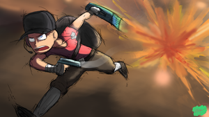 TF2 Scout Running by Twisted4000