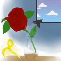 Red Rose n Yellow Ribbon Final by Energyzed