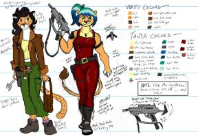 Verity and Tanya Ref Sheet by the-gneech