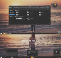 SAO dARK V2 Theme Windows 8.1 by Cleodesktop