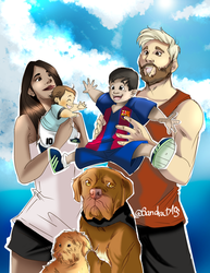 another messi family fanart :) by Sandra-delaIglesia