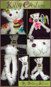 Kitty Creature - Plushie by Blattaphile