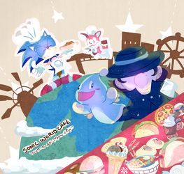 sonic world cafe by aoii91