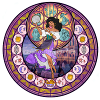 Esmeralda - Kingdom Hearts Stain Glass by reginaac57
