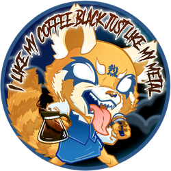 Retsuko- Black Metal Coffee by hollarity