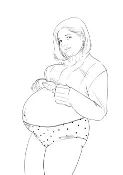 Huge Preggo Girl by PreggoJoy