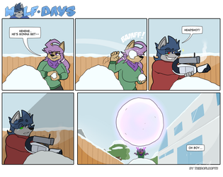 Wolf Days - Snowball Fight by TheRoflCoptR