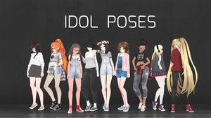 [MMD] Idol poses DL by Andy2812