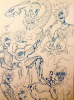 Late doodles by DrawerMich