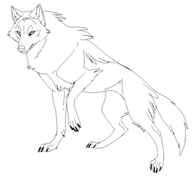 Wolf Lineart 2018 (free to use!) by Kipine