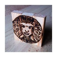 Daily22 a - Pyrography: The Wooden Princess by RetSamys