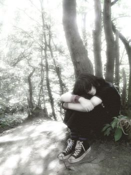 Wasting tears on lonliness by With-the-lights-out