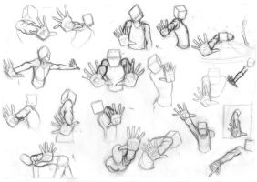 Pose Studies 25 (Foreshortening studies 1) by Brant-Bi