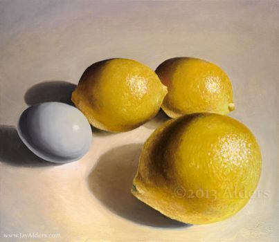 Lemons and Egg by jayalders