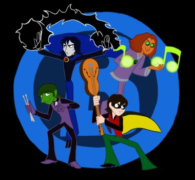 The Beatles as The Titans by lilminette