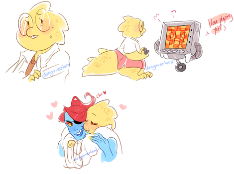 alphys doodlies by dongoverlord