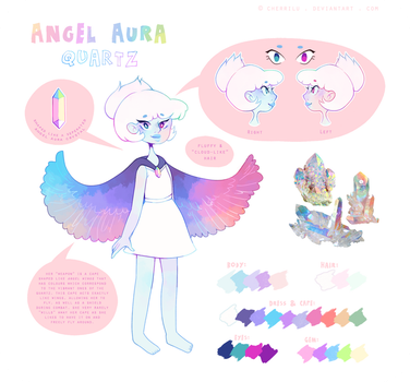 SU | Angel Aura Quartz Gemsona by cherrilu