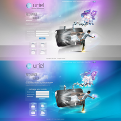 uriel website home page by REDFLOOD