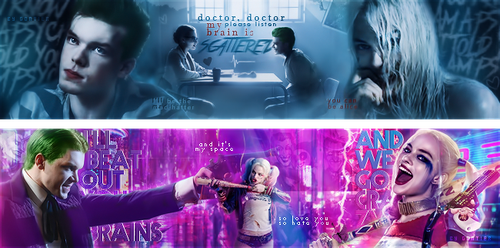 Joker + Harley \ Mad Hatter, Space by katluciferskaya