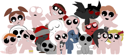 The TBOI Family by HootisPootis