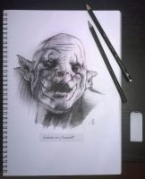 Azog the Defiler by kaiosart