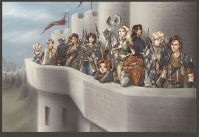 Defending the Wall by Saehral