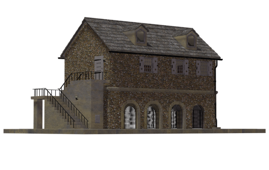 Building - Coach House 04 by Free-Stock-By-Wayne